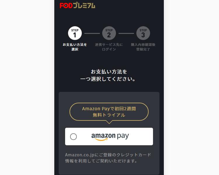 [Amazon Pay]を選択