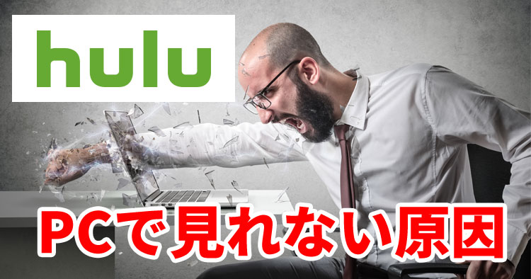HuluがPCで見れない・再生されない原因と対処法